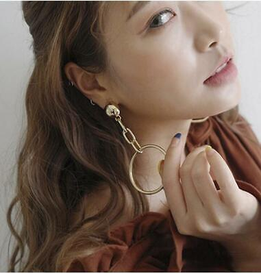Dangle Big Geometric Statement Women Alloy Boho Plated Drop Earring Gold Fashion