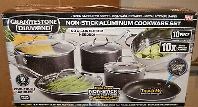 Granite Rock 15 Piece Nonstick Ultra Durable Complete Cookware and Utensil Set