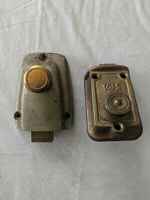 Pair Of Vintage Deadbolt Locks, One Is Yale