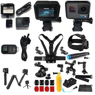 GoPro HERO6 Black Camera HD 4K CHDHX-601+Smart Remote+3-Way Arm+Sports Bundle!