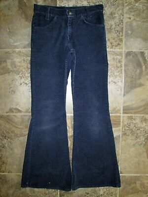 132eb39a VTG Levi's Corduroy Pants 27x29 Blue Boot Cut Flare Bell Bottom Hippy  Hipster