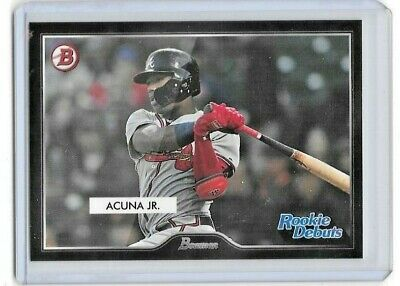 Ronald Acuna Jr. 2019 Topps On-Demand '55 Bowman Design Rookie Debuts /217 SP
