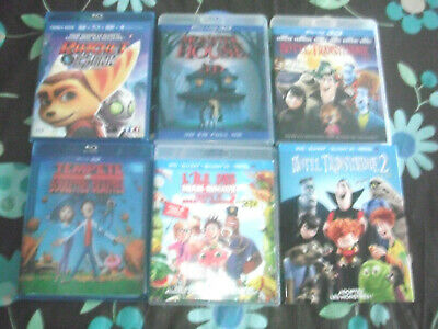 Lot 6 film animation blu ray 3d dessin animé