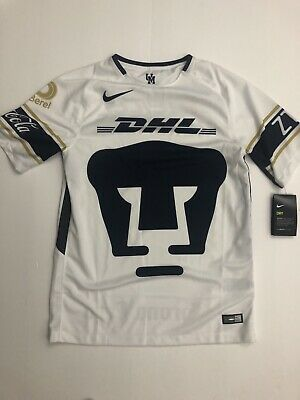 on sale 16ff3 ad4fd NWT NIKE PUMAS UNAM HOME JERSEY 2017/18 Men Small AUTHENTIC Universidad  Nacional