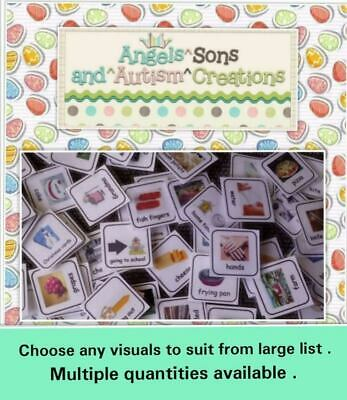 Choose your own visual cards to suit ~ AUTISM / non verbal / communication /PECS