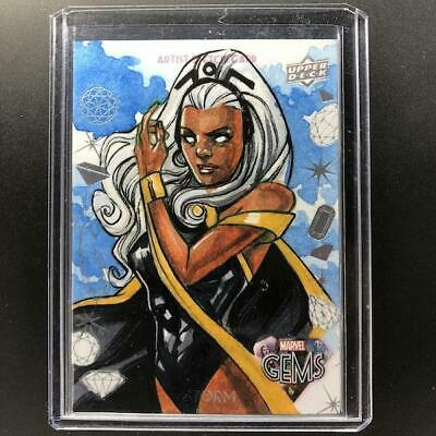 2016 Marvel Gems STORM Sketch Leon Braojos 1/1 GS-2