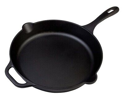 """Cast Iron Skillet, 12"""" Pre-Seasoned Cast Iron Skillet Round Pan with Handle"""