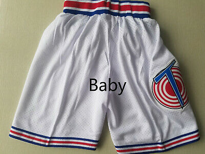 Space Jam Tune Squad Basketball Shorts Looney Toones White Stitched Baby Size