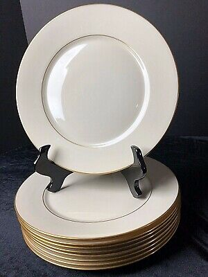 Lenox Hayworth Dinner Plate Ivory Gold Ring Bone China 10.75""