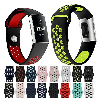 Silicone Montre Bands Wrist Sangle Pour Fitbit Charge 3 Bracelet Small Large HG