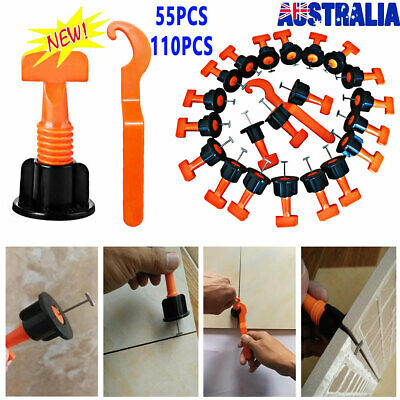 55/110X Tile Leveling System Flat Ceramic Floor Wall Construction Tools Reusable