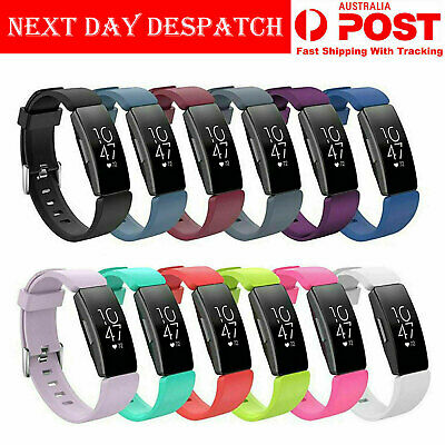 Fitbit Inspire HR Replacement Soft Silicone Sports Wrist Watch Band Strap