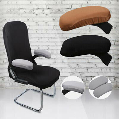2X Office Chair Armrest Covers Removable Arm Rest Stretch Protector Cover Coffee