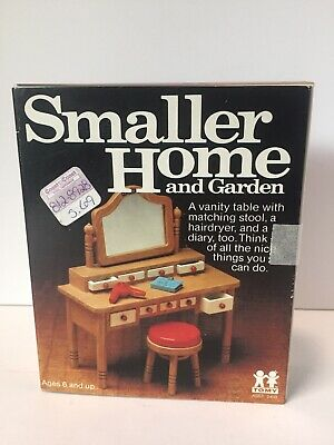 NEW Tomy Smaller Home and Garden Dollhouse Vanity Accessories Homes Furniture