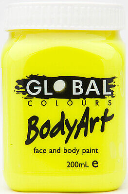FLOURO YELLOW - FACE & BODY PAINT- 200ml Jar