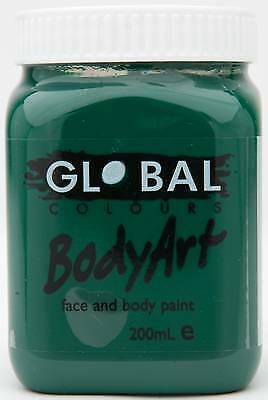 DEEP GREEN - FACE & BODY PAINT - 200ml Jar