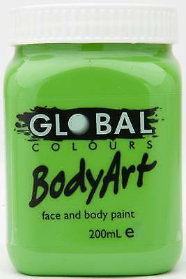 LIGHT GREEN - FACE & BODY PAINT - 200ml Jar