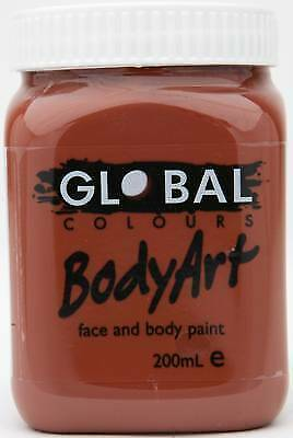 BROWN - FACE & BODY PAINT - 200ml Jar