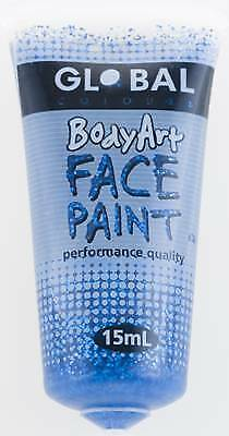 BLUE GLITTER - FACE & BODY PAINT - 15ml Tube