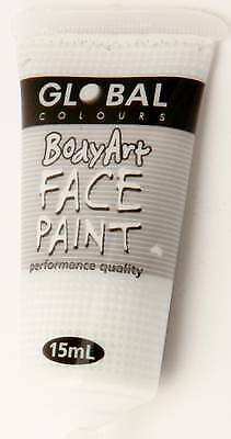 WHITE - FACE & BODY PAINT - 15ml Tube