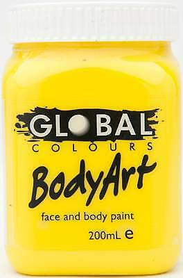 YELLOW - FACE & BODY PAINT - 200ml Jar