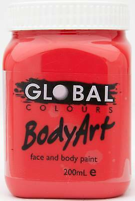 BRILLIANT RED - FACE & BODY PAINT - 200ml Jar