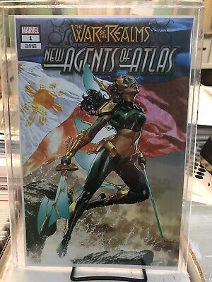 War Of Realms New Agents Of Atlas #1 Mico Suayan Variant In Stock Nm Copies