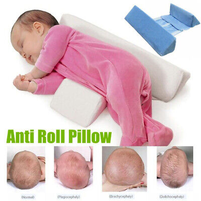 Super Soft Baby Sleep Pillow Wedge, Adjustable, Anti Roll, Flat Head Support US