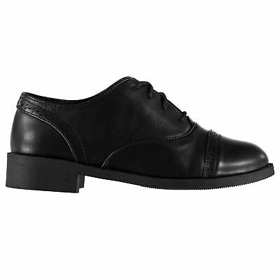 Miso Bobbi Brogue Shoes Childs Girls Black Kids Footwwear