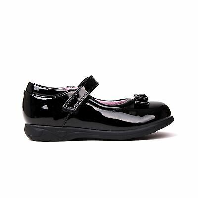 Miss Fiori Mary Jane Bow Shoes Childs Girls Black/Patent Kids Footwwear