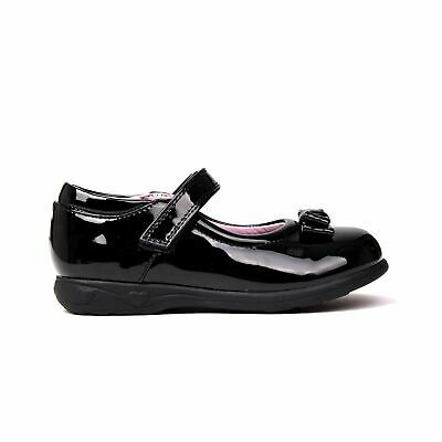 Miss Fiori MJ Bow Shoes Childs Girls Black/Patent Kids Footwwear