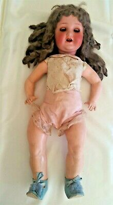 HIGHLY PRIZED Heubach Köppelsdorf 51cm bisque composite doll sleep eyes+tongue