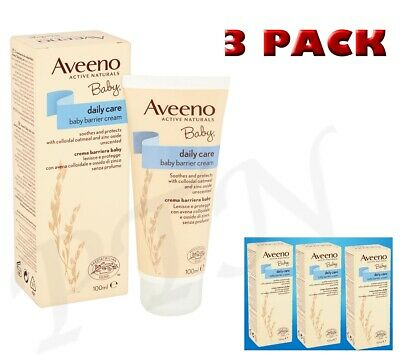 Aveeno Baby Daily Care Barrier Cream 100ml Protect Against External Irritants x3