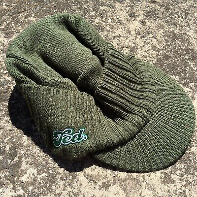 "TED TOOHEY'S EXTRA DRY ""Khaki Green"" Collectable Alcohol Adults Knitted Cap Hat"