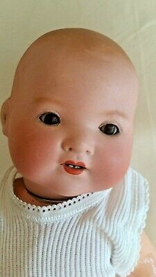Highly prized 1920's Armand Marcielle bisque+composite 40cm doll well preserved