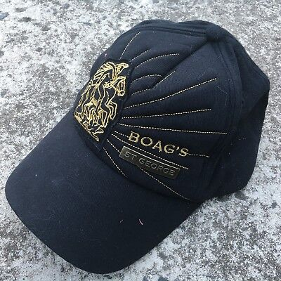"BOAG'S ST GEORGE ""Black"" Collectable Baseball Cap Promotional Beer Alcohol Hat"