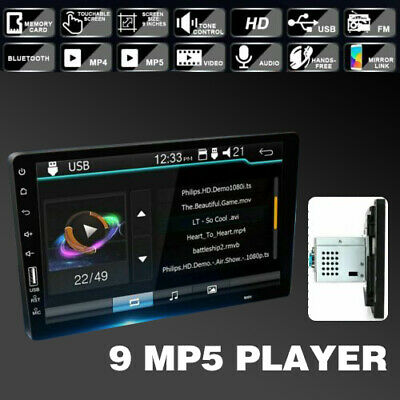 9inch 1 Din Touch Screen Car Bluetooth Single FM/USB/AUX MP5 Player Stereo Radio