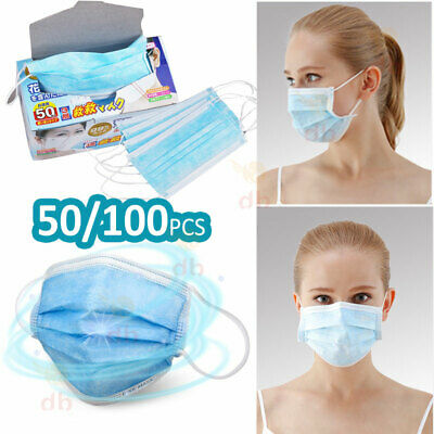 Disposable Medical Mouth Face Mask Surgical Anti-Dust Ear Loop Cover Clinic Flu