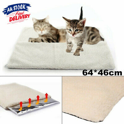 Large Pet Electric Heat Heated Self-heating Mat Heater Pad Blanket Bed Dog Cat D