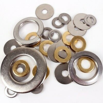 A2 STEEL/BRASS WASHERS M2-M36 CHOOSE SIZE Small-Large Flat Spring Penny Metric