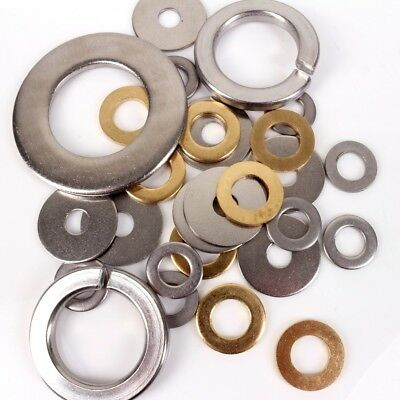 A2 STAINLESS STEEL WASHERS ALL SIZES M2-M36 Flat Form A Spring Penny Metric Thin