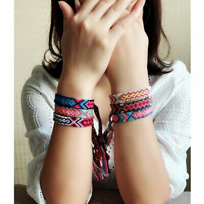 Boho Thread Boho String Cord Woven Braided Hippie Women Mens Bracelet Jewellery