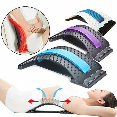 Back Massager Muscle Stretcher Posture Relief Lower Lumbar Pain Acupuncture New