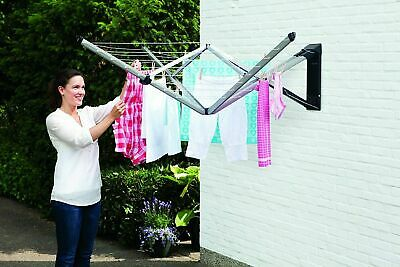 Wall Mounted Rotary Air Dryer Indoor/Outdoor Whirligig Washing Line Laundry