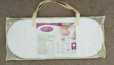 ClevaMama Moses Basket Mattress Ultimate Comfort and Support Size 74cm x 30cm
