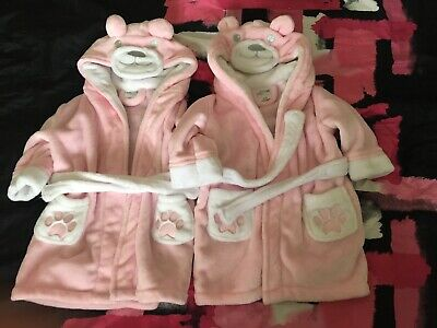 Twin Girls Dressing Gown Bundle Size 12-18 Months
