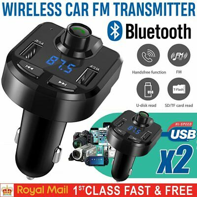 Bluetooth Car Kit FM Transmitter Radio MP3 Player USB Charger Wireless Handsfree