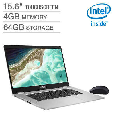 "New Asus 15.6"" FHD Chromebook C523NA-IH24T, Intel Quad Core N4200,4G,64G,180 deg"