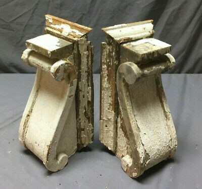 Pair Antique Corbels Shelf Brackets Shabby Vintage Chic 265-19L