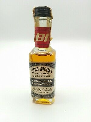 Miniature mignon minibottle Whiskey Bourbon Ezra Brooks 7yo 90 proof